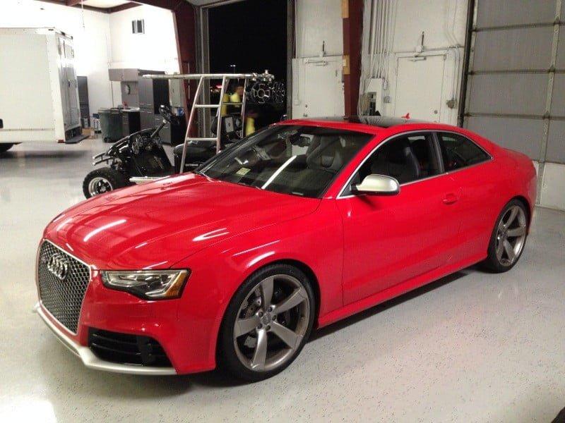 audi rs5 gets custom subwoofer upgrade for mechanicsville client