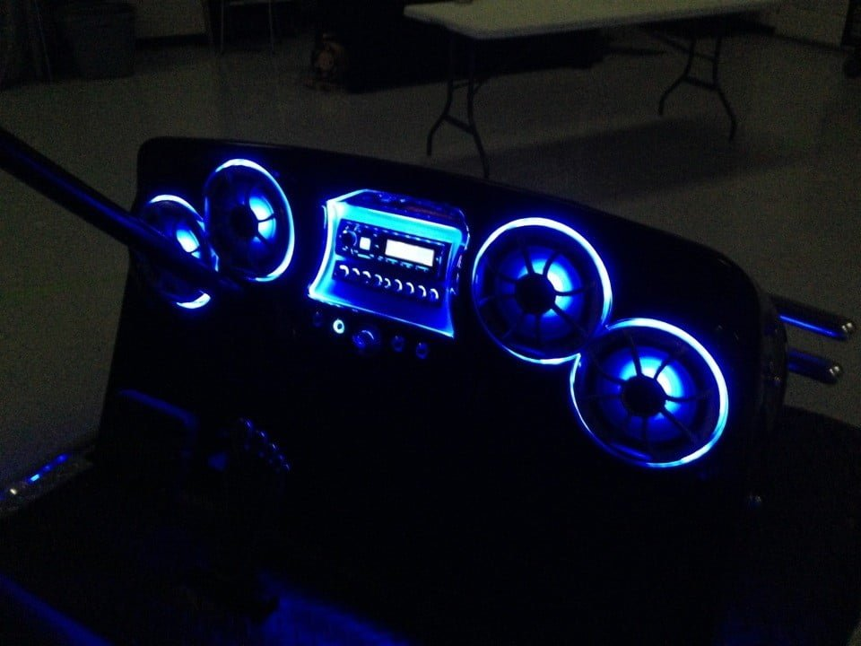 Golf Cart Audio on yamaha golf cart dash kits